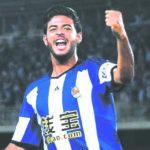 Foto por Agencias Carlos Vela, goleador mexicano.