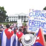 Foto por Agencias Cubano-estadounidenses se manifestaron frente a la Casa Blanca en Washington